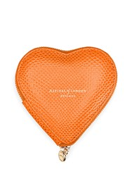 Aspinal Of London Heart Coin Purse Orange