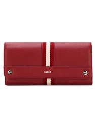 Bally Striped Wallet Red