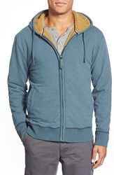 Men's Jeremiah 'Fisk' Zip Front Hoodie With Faux Shearling Lining