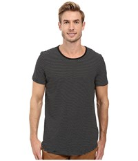Kenneth Cole Short Sleeve Striped Crew T Shirt Black Men's T Shirt