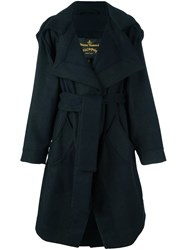Vivienne Westwood Anglomania Pointy Belted Coat Grey