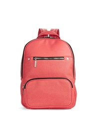 Kensie Perforated Faux Leather Backpack Coral