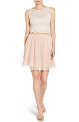 Jump Apparel Women's Lace Bodice Two Piece Dress