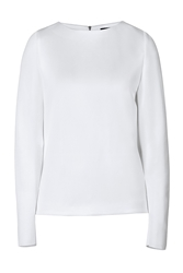 Anthony Vaccarello Long Sleeve Viscose Top