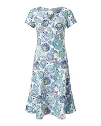 East Kerala Floral Dress Blue
