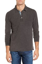 Faherty Men's Regular Fit Long Sleeve Slub Jersey Polo