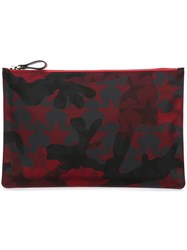 Valentino 'Camustars' Clutch Bag Red