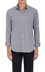 Hartford Men's Gingham Cotton Shirt Blue
