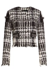 Alexander Wang Boucle Jacket With Zippers And Leather Black