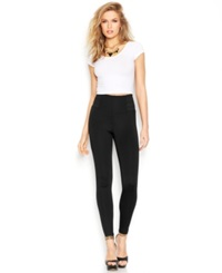 Guess Wide Waistband Scuba Leggings Jet Black