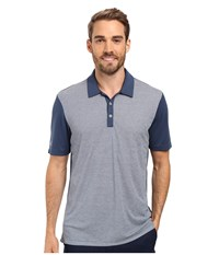 Adidas Climachill Heather Stripe Polo Mineral Blue Men's Clothing