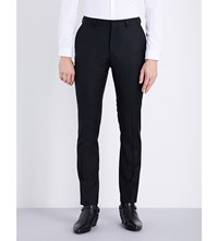 The Kooples Slim Fit Tapered Wool Trousers Black