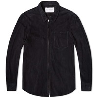 Suede Zip Shirt Black