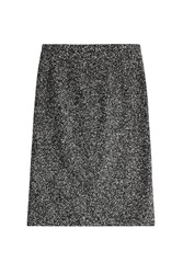 Michael Kors Virgin Wool And Lama Fur Skirt Multicolor