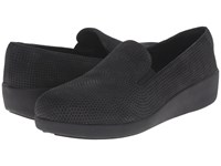 Fitflop Pop Skate Perf Black Women's Flat Shoes