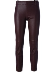 Stouls Leather Trousers Pink And Purple