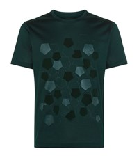 Z Zegna Scattered Pentagon T Shirt Male Green