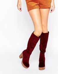 Asos Charmed 70'S Knee High Boots Rustcord