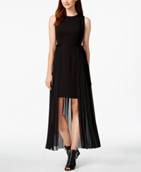 Rachel Rachel Roy Sleevless Pleated High Low Dress Black