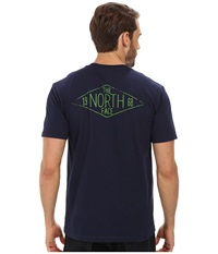 The North Face S S Heritage Diamond Tee Cosmic Blue Men's T Shirt