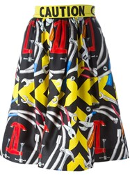 Moschino Printed Skirt Multicolour
