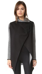Michi Dusk Wrap Jacket Grey Black