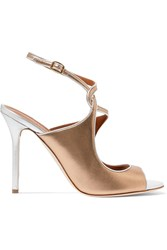 Malone Souliers Della Metallic Leather Sandals Gold