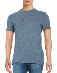 Selected Cotton Jersey Knit Short Sleeve Tee Ombre Blue