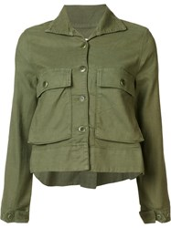 The Great Cropped Jacket Green