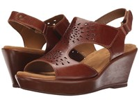 Softspots Rainer Luggage Montana Women's Wedge Shoes Brown