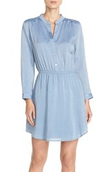 Women's Charles Henry Button Front Long Sleeve Shirt Dress