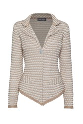 James Lakeland Short Knitted Cardi Beige