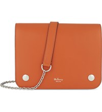 Mulberry Clifton Leather Cross Body Bag Bright Orange