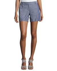 Laundry By Shelli Segal Cuffed Linen Blen Shorts Inkblot