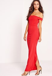 Missguided Bardot Maxi Dress Red Red