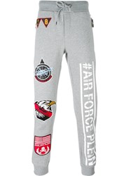 Philipp Plein 'Cat Eyes' Track Pants Grey