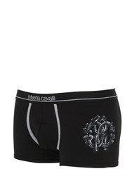 Roberto Cavalli Embroidered Stretch Jersey Boxer Briefs