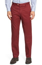 Peter Millar Men's 'Raleigh' Washed Twill Pants Pomegranate