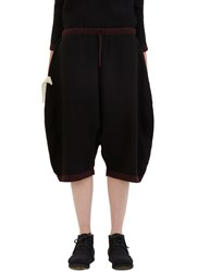 Marvielab Oversized Reversible Dropped Crotch Shorts Black