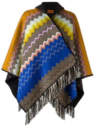 Missoni Reversible Hooded Poncho Multicolour