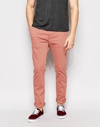 Hollister Chino In Skinny Fit In Salmon Orange