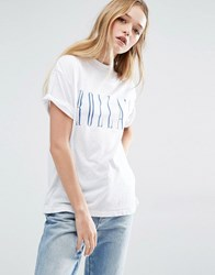 Rollas Rolla's Slouch Logo T Shirt White