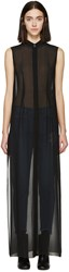 Maison Martin Margiela Black Sleeveless Long Shirt