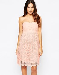 Traffic People Carry On Crochet Crusade Dress With Bandeau Top Pink