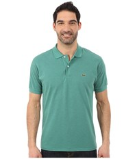 Lacoste Short Sleeve Chine Classic Pique Polo Shirt Alpine Chine Men's Short Sleeve Knit Blue
