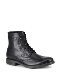 Marc New York Baycliff Leather Wing Tip Boots Black