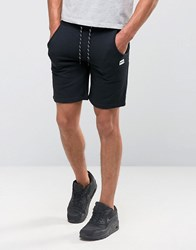 Jack And Jones Jersey Sweat Shorts With Detailed Drawstring Black