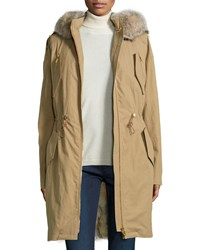 Michael Kors Fur Lined Anorack Fawn