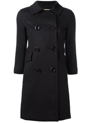 Herno Double Breasted Coat Black