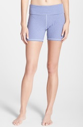 Alternative Apparel Pull On Stretch Shorts Purple Jewel Stripe